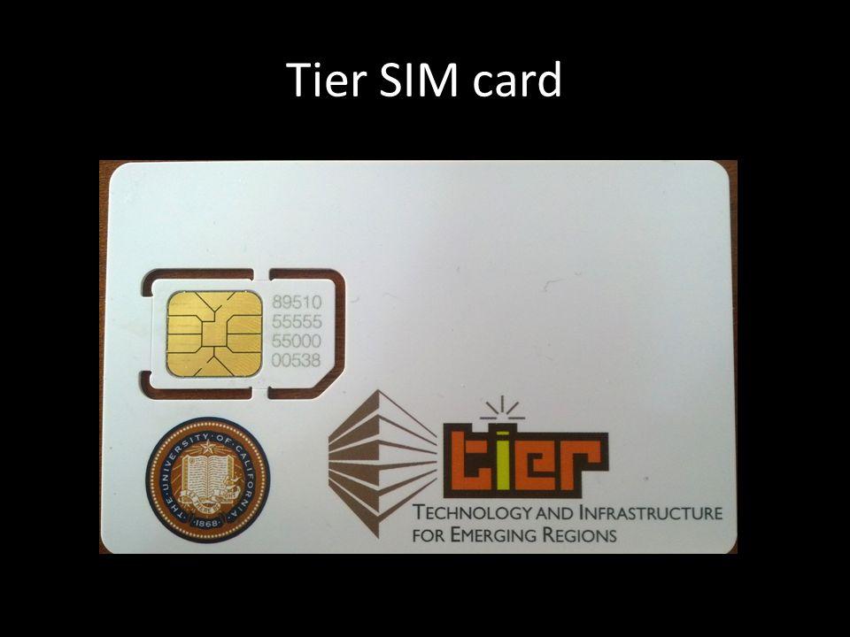 Tier SIM card