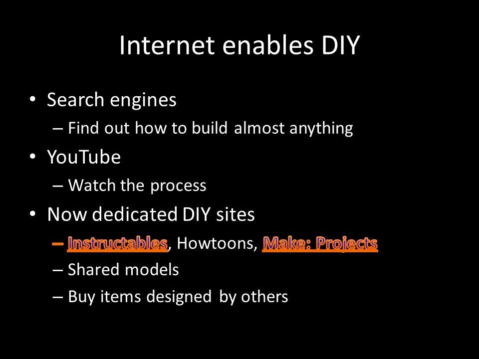 Internet enables DIY