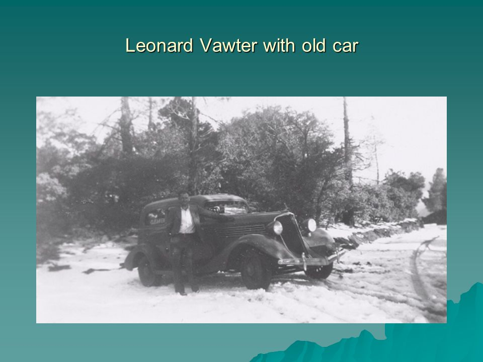 Leonard Vawter with old car