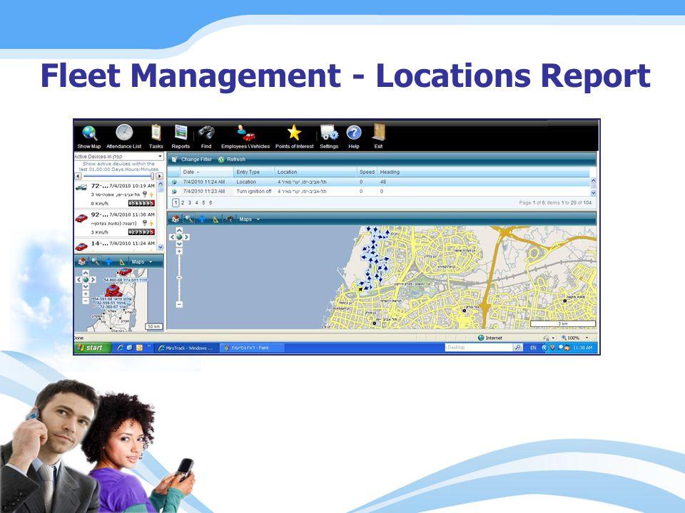Fleet Management - Locations Report