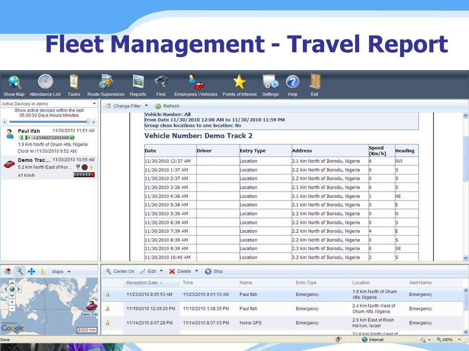 Fleet Management - Travel Report