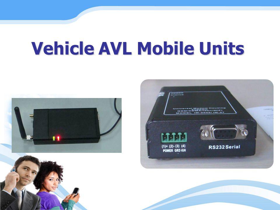 Vehicle AVL Mobile Units