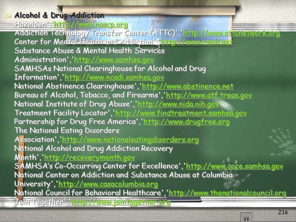 Resource Listing / State & National Certification Boards Alcohol & Drug Abuse Certification Board of Georgia (ADACB- GA) , http://www.adacbga.org Georgia Addiction Counselors Association (GACA) , http://www.gaca.org IC&RC International Credentialing & Reciprocity Consortium , http://www.icrcaoda.org National Association Alcohol & Drug Abuse Counselors , http://www.naadac.orghttp://www.adacbga.orghttp://www.gaca.orghttp://www.icrcaoda.orghttp://www.naadac.org / Georgia Professional Organizations Georgia Council on Substance Abuse , http://www.gasubstanceabuse.org United Way Data Resource 211 , http://www.unitedwaycg.org/211 Addiction Treatment Search , http://www.addictionsearch.com/treatment/GA/georgia.html Georgia Government , http://www.georgia.gov Georgia Division of Mental Health, Developmental Disabilities & Addictive Diseases , http://www.mhddad.dhr.georgia.govhttp://www.gasubstanceabuse.orghttp://www.unitedwaycg.org/211http://www.addictionsearch.com/treatment/GA/georgia.htmlhttp://www.georgia.govhttp://www.mhddad.dhr.georgia.gov / State & National Certification Boards Alcohol & Drug Abuse Certification Board of Georgia (ADACB- GA) , http://www.adacbga.org Georgia Addiction Counselors Association (GACA) , http://www.gaca.org IC&RC International Credentialing & Reciprocity Consortium , http://www.icrcaoda.org National Association Alcohol & Drug Abuse Counselors , http://www.naadac.orghttp://www.adacbga.orghttp://www.gaca.orghttp://www.icrcaoda.orghttp://www.naadac.org / Georgia Professional Organizations Georgia Council on Substance Abuse , http://www.gasubstanceabuse.org United Way Data Resource 211 , http://www.unitedwaycg.org/211 Addiction Treatment Search , http://www.addictionsearch.com/treatment/GA/georgia.html Georgia Government , http://www.georgia.gov Georgia Division of Mental Health, Developmental Disabilities & Addictive Diseases , http://www.mhddad.dhr.georgia.govhttp://www.gasubstanceabuse.orghttp://www.unitedwaycg.org/211http://www.addictionsearc