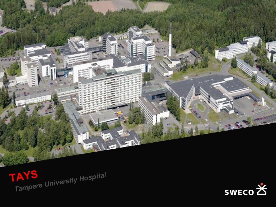 Helsinki University Central Hospital, Triangle Hospital TAYS Tampere University Hospital