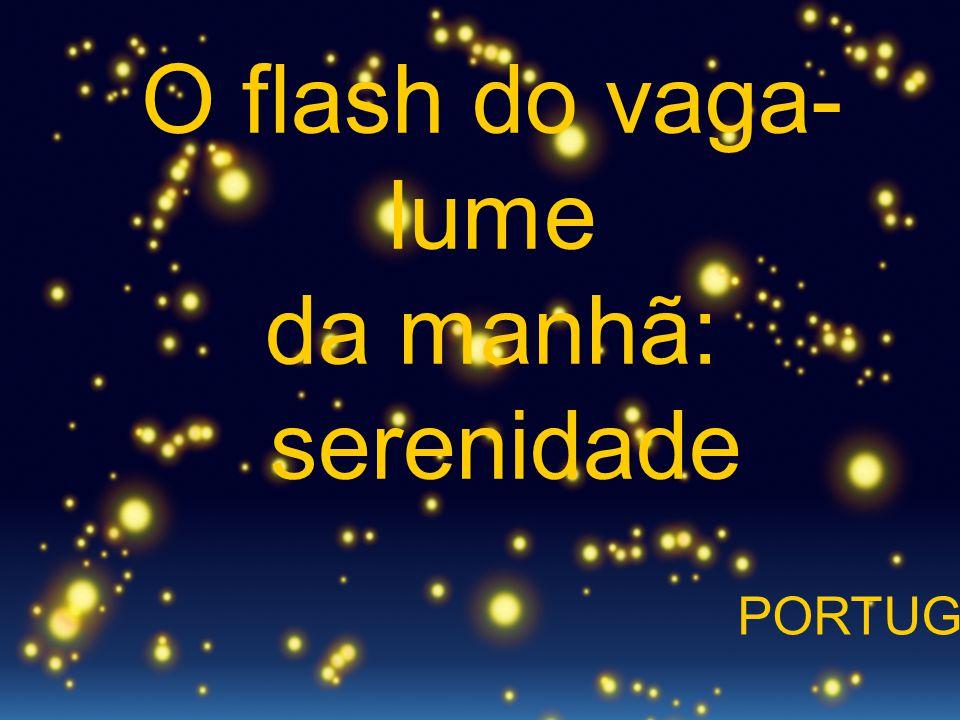 O flash do vaga- lume da manhã: serenidade PORTUGUÉS