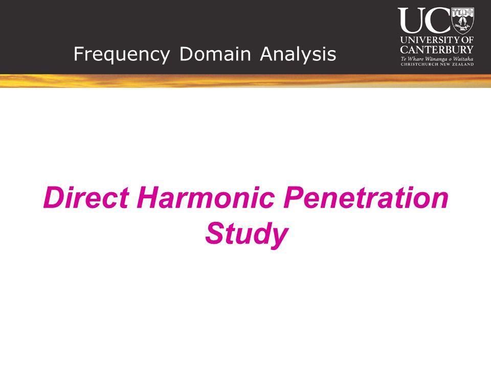 Frequency Domain Analysis Direct Harmonic Penetration Study