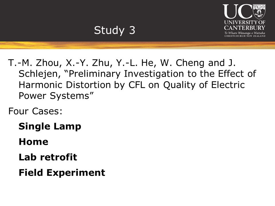 Study 3 T.-M. Zhou, X.-Y. Zhu, Y.-L. He, W. Cheng and J.