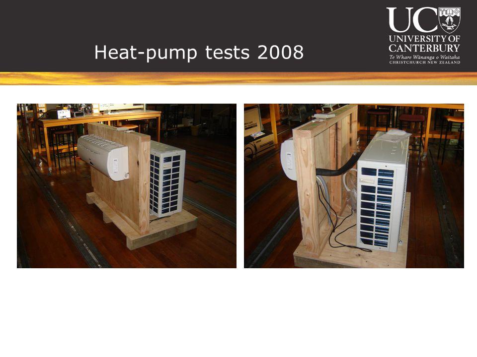 Heat-pump tests 2008