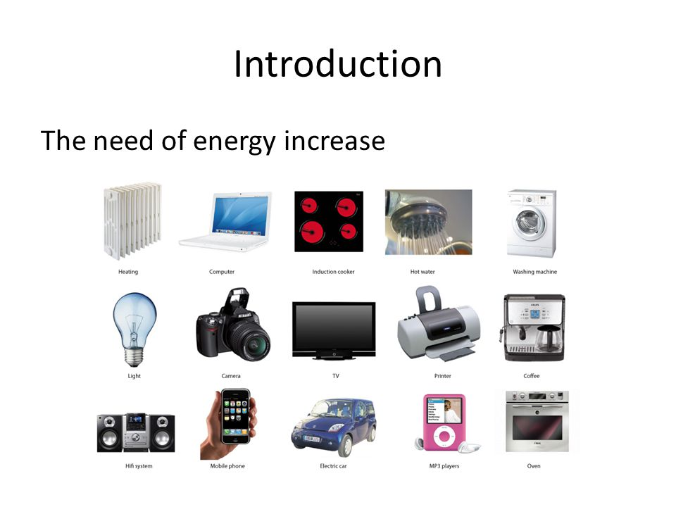Introduction The need of energy increase