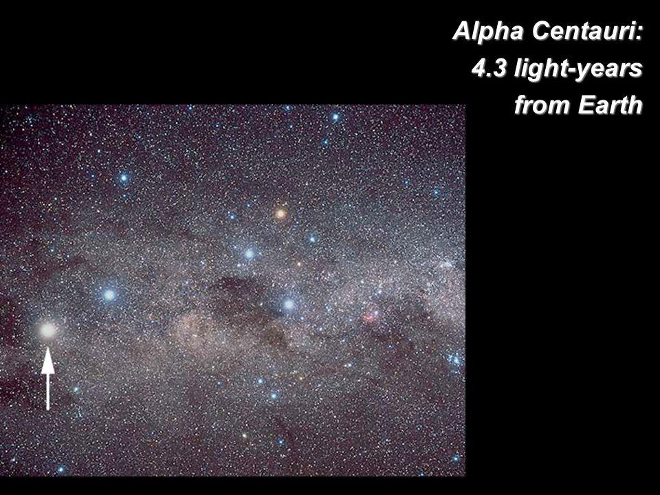 Alpha Centauri: 4.3 light-years from Earth