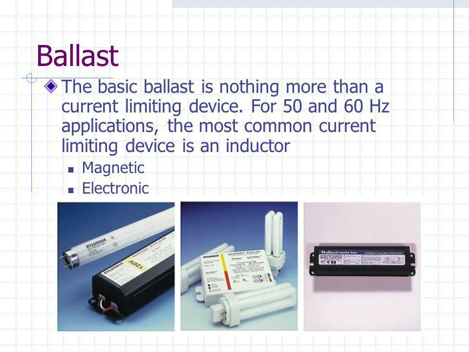 The basic ballast is nothing more than a current limiting device.