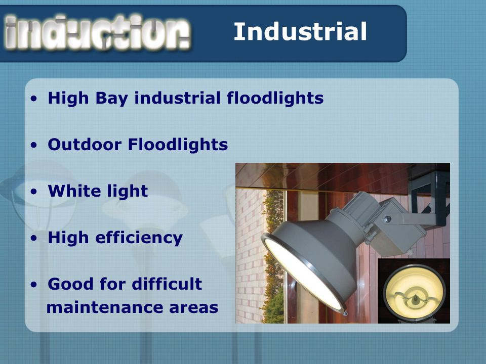 Industrial High Bay industrial floodlights Outdoor Floodlights White light High efficiency Good for difficult maintenance areas