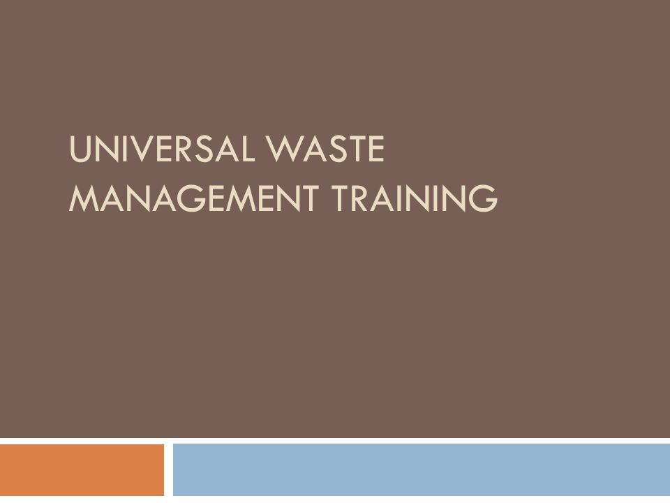 Introduction In 1995, the Georgia Department of Natural Resources Environmental Protection Division (EPD) and the United States Environmental Protection Agency (EPA) developed and streamlined hazardous waste management requirements for collecting and managing certain widely generated hazardous waste by creating a Universal Waste category.