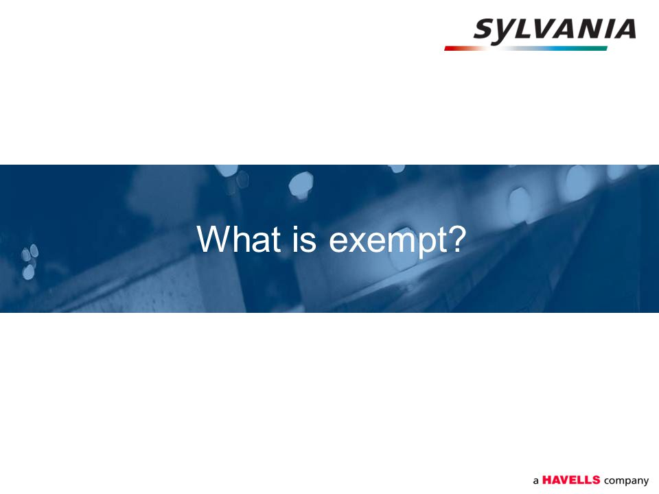 What is exempt?