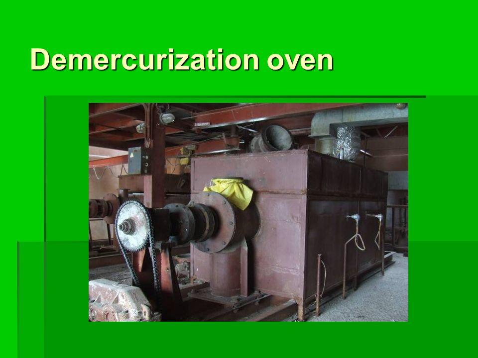 Demercurization oven