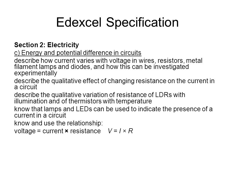 Resistance Resistance is the opposition that an electrical device has to the flow of electrical current.