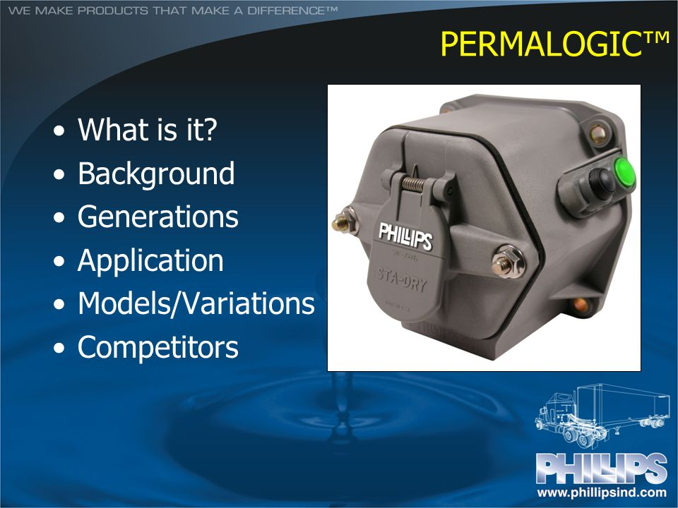 PERMALOGIC What is it? Background Generations Application Models/Variations Competitors