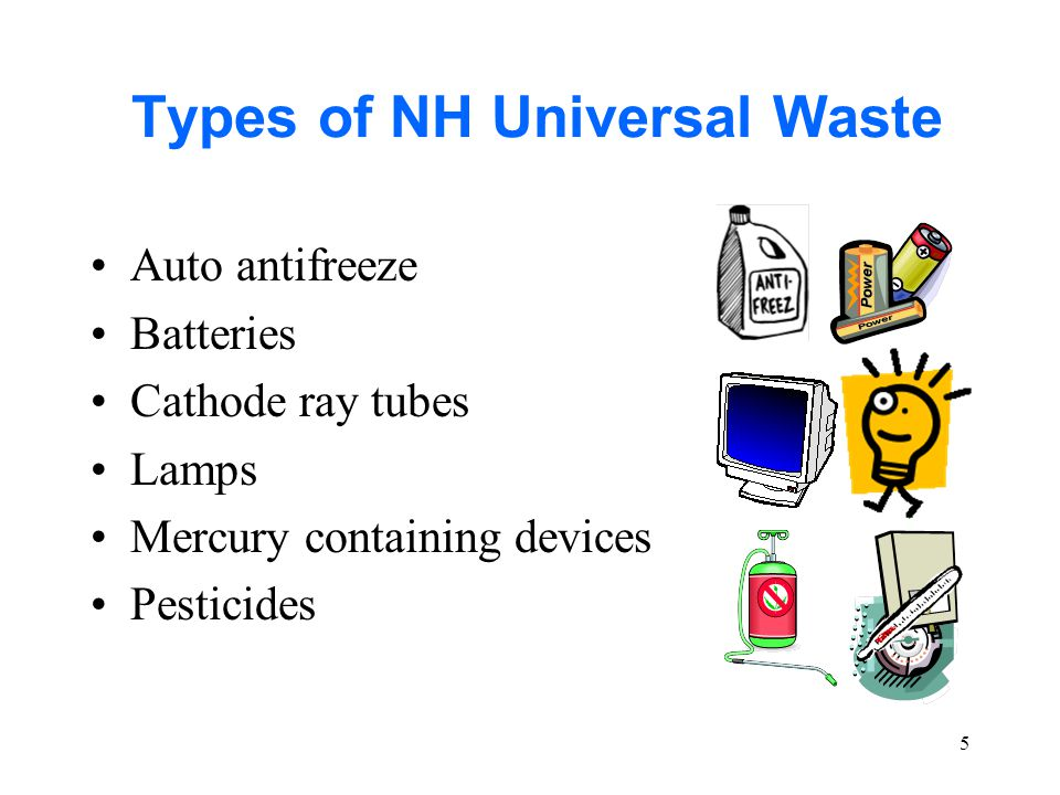 36 Sample Question #2 Question: Which of the following is not a universal waste.