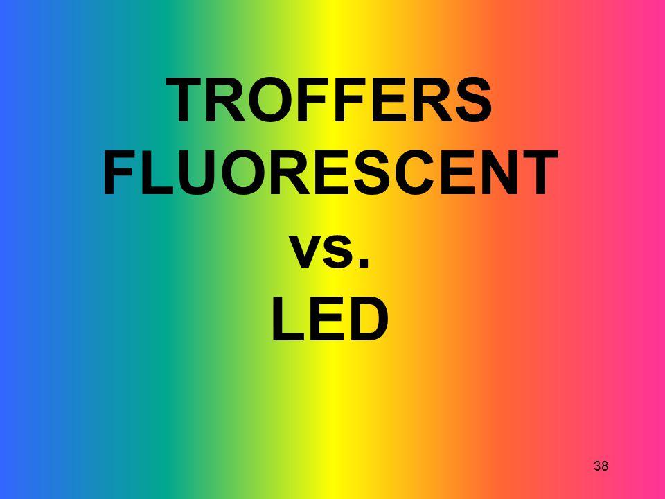 38 TROFFERS FLUORESCENT vs. LED