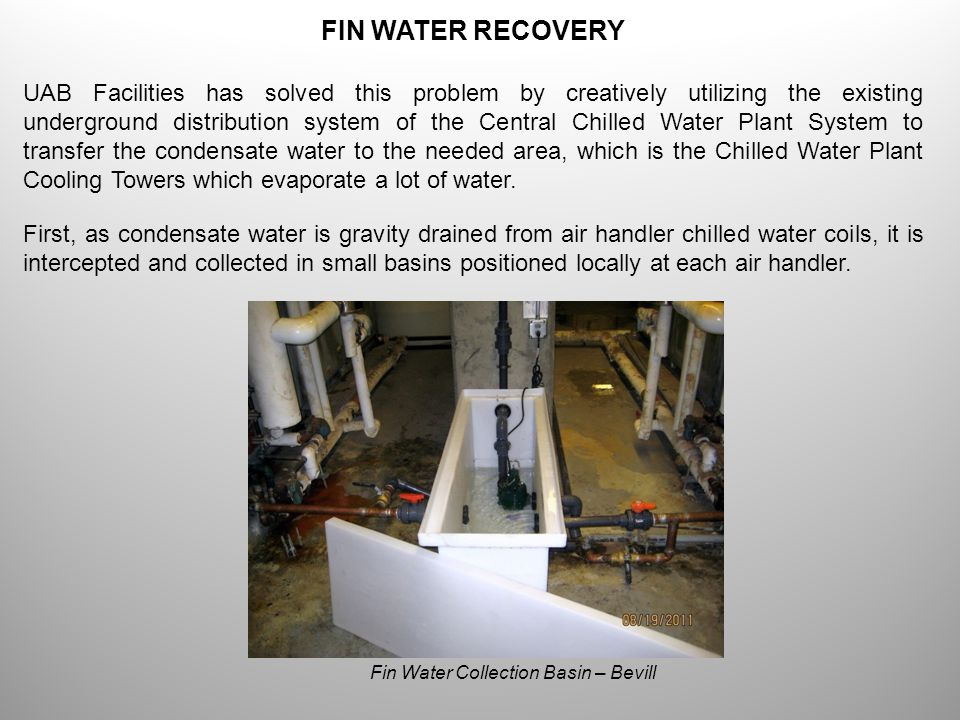 FIN WATER RECOVERY UAB is now the leader in recovering and utilizing condensate water from air handler coils.