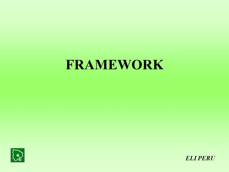 THE LEGAL FRAMEWORK ELI PERU ELECTRICAL CONCESSIONS LAW – Non integrated generation, transmission and distribution activities with private participation.