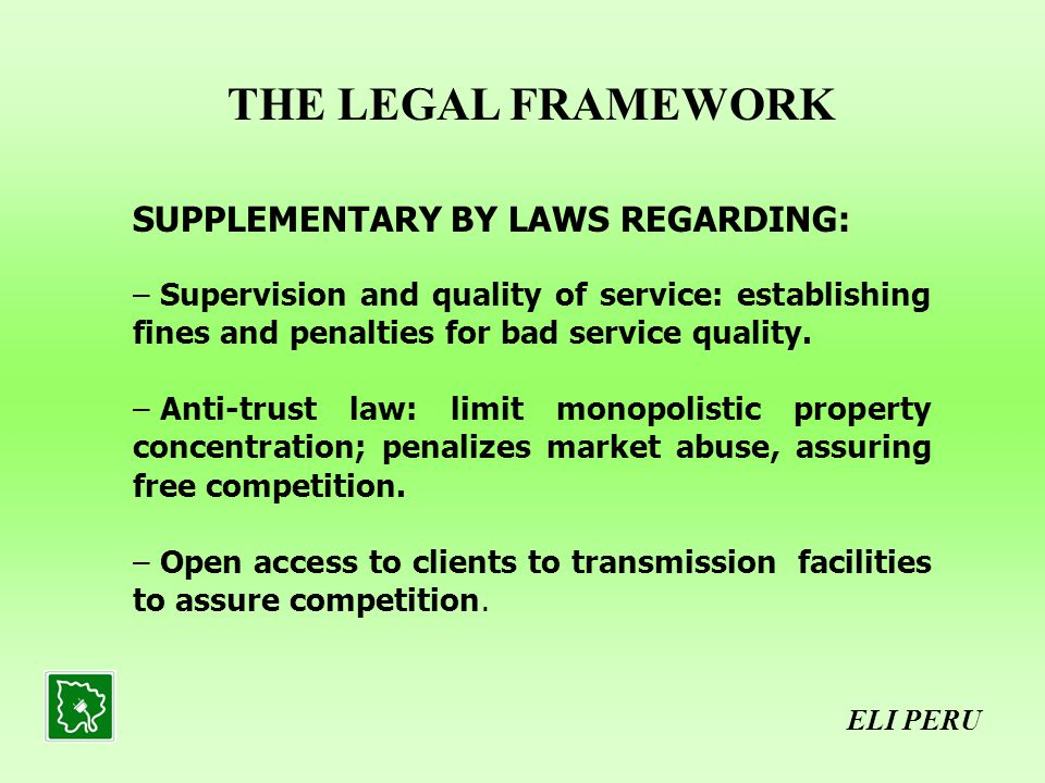 SUPPLEMENTARY BY LAWS REGARDING: – Supervision and quality of service: establishing fines and penalties for bad service quality.