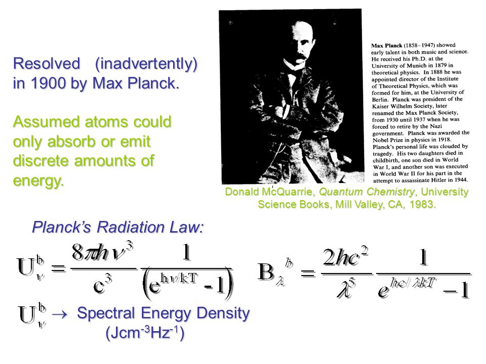 Resolved (inadvertently) in 1900 by Max Planck.