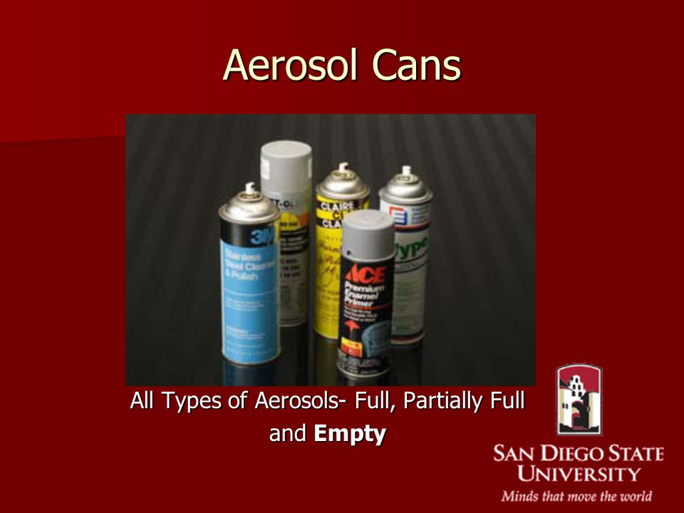 Aerosol Cans All Types of Aerosols- Full, Partially Full and Empty