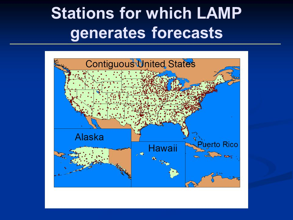 Stations for which LAMP generates forecasts