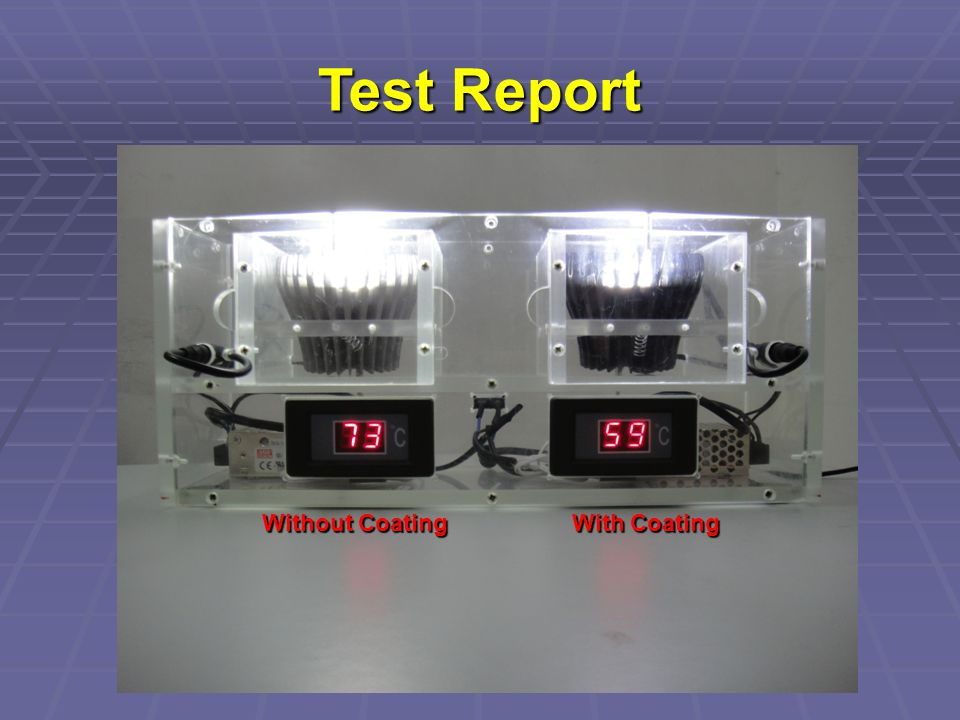With Coating Without Coating Test Report