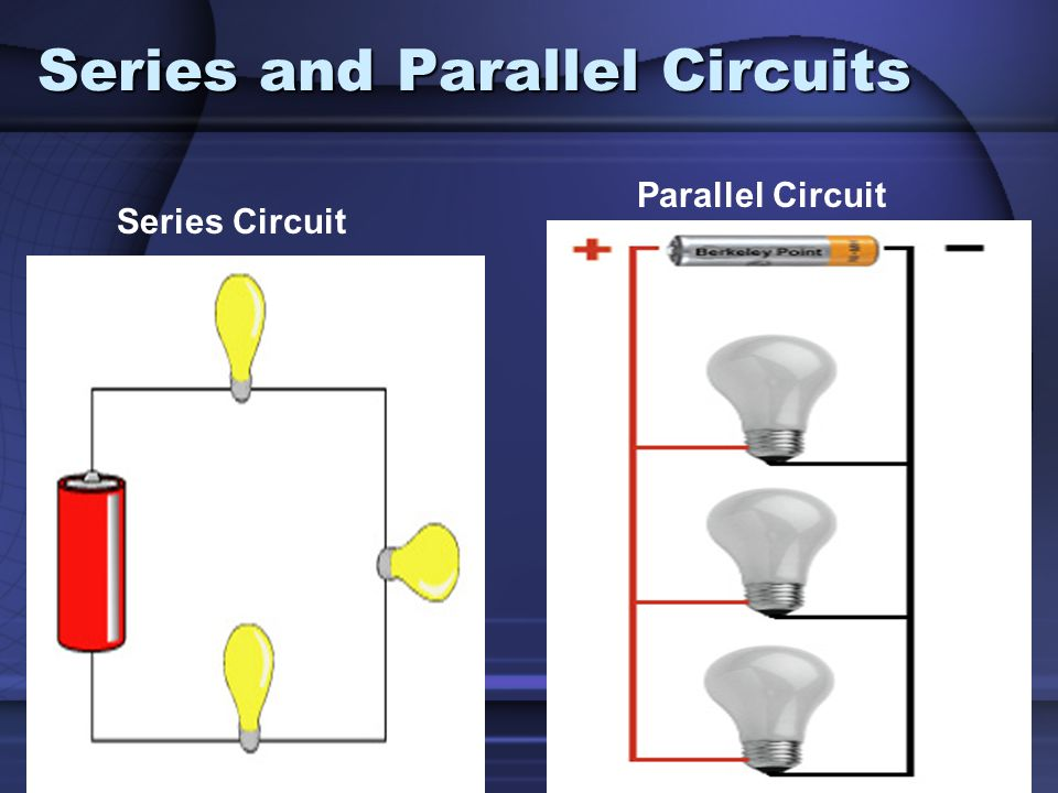 Series and Parallel Circuits Series Circuit Parallel Circuit