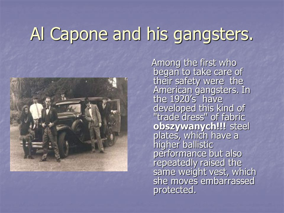 Al Capone and his gangsters.