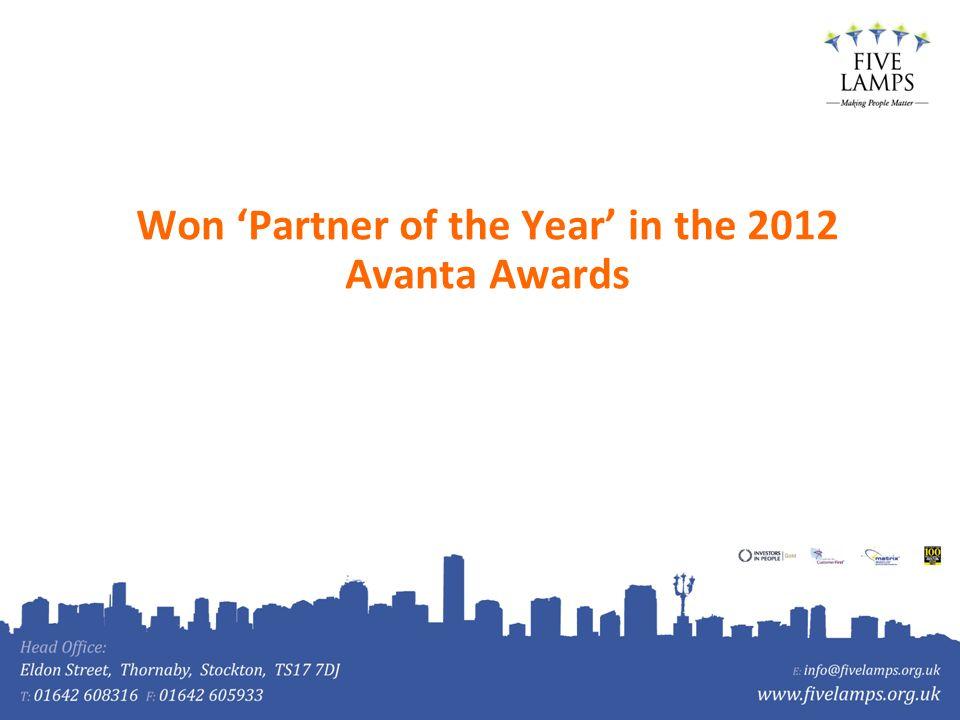 Won Partner of the Year in the 2012 Avanta Awards
