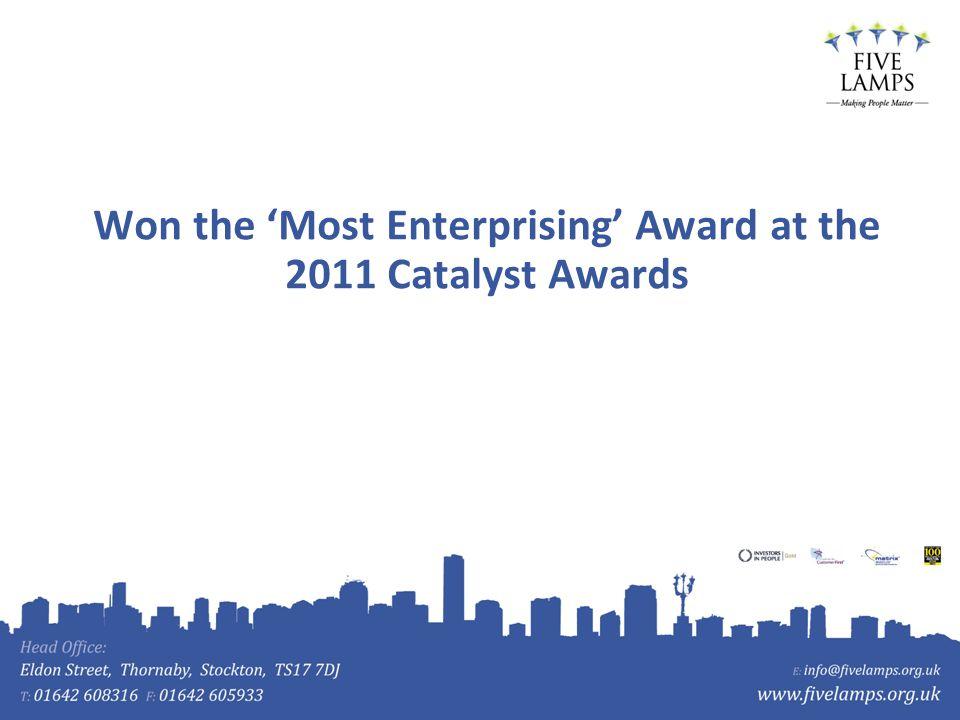 Won the Most Enterprising Award at the 2011 Catalyst Awards