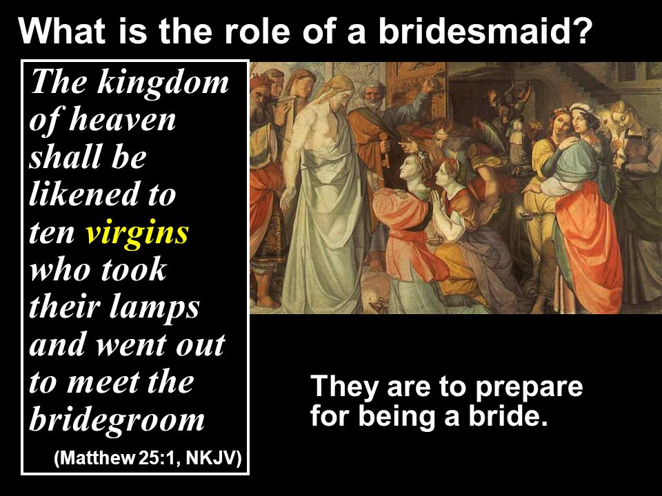Given that the role of a bridesmaid is to prepare for being a bride… What is the theme of this parable.