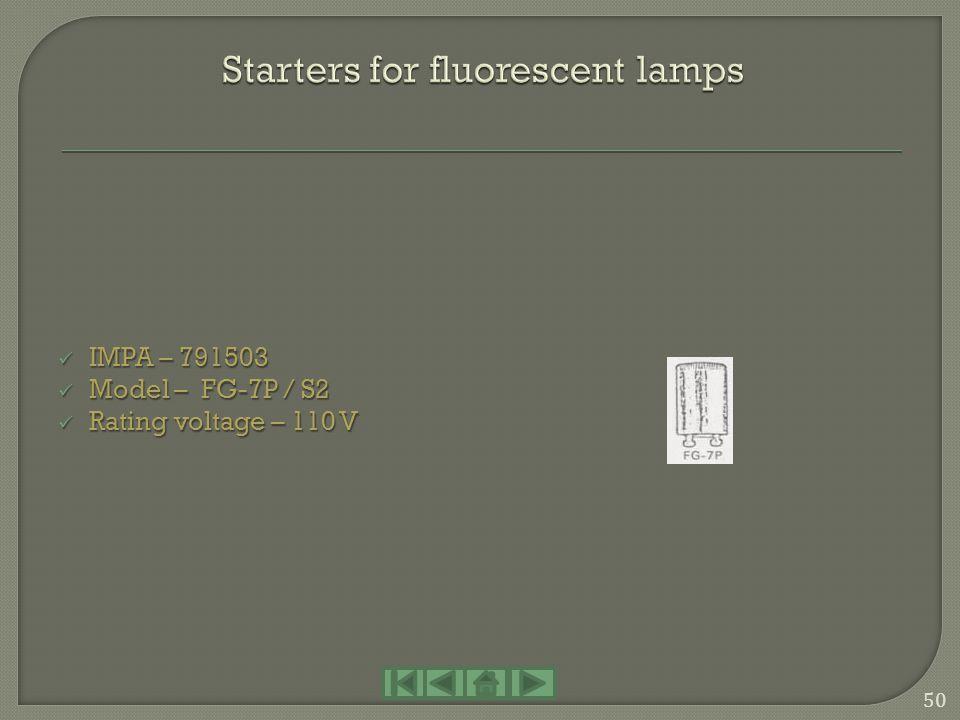 IMPA – 791271 IMPA – 791271 Model – JT type Model – JT type Power – E-40 / 500 W Power – E-40 / 500 W Rating voltage – 110 V Rating voltage – 110 V IM