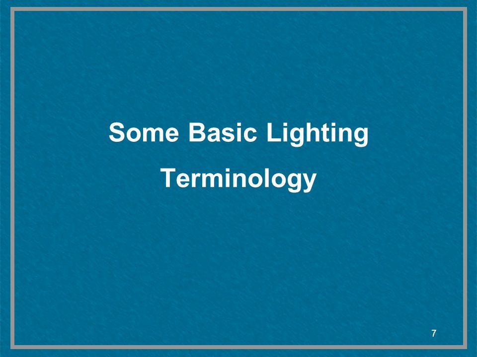 7 Some Basic Lighting Terminology