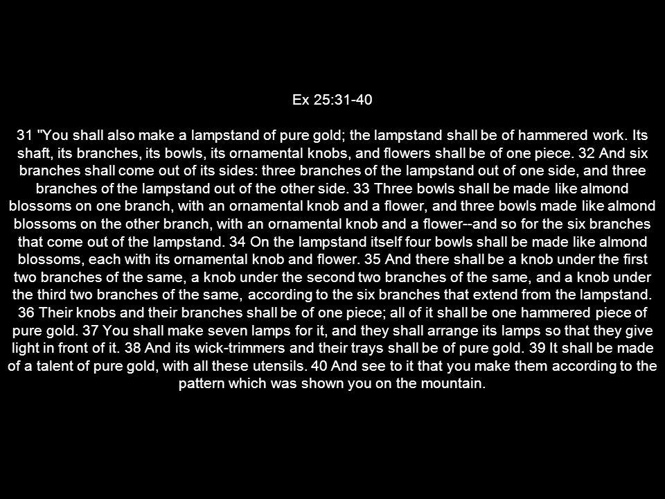 Ex 25:31-40 31