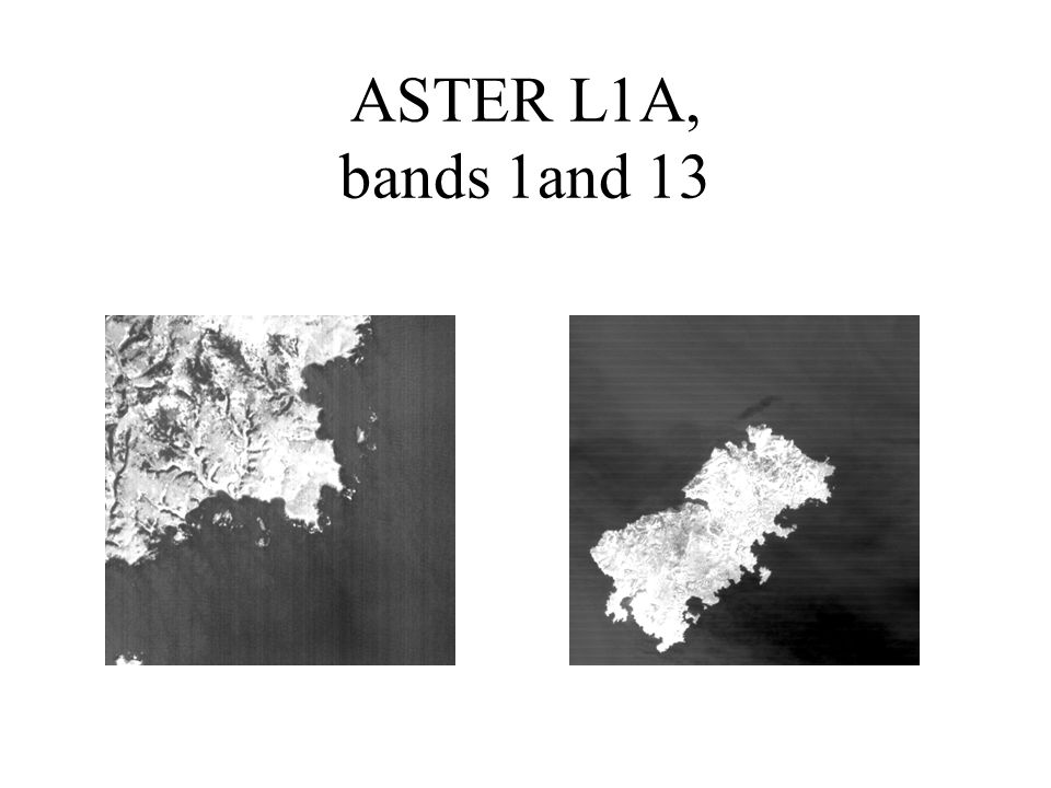ASTER L1A, bands 1and 13