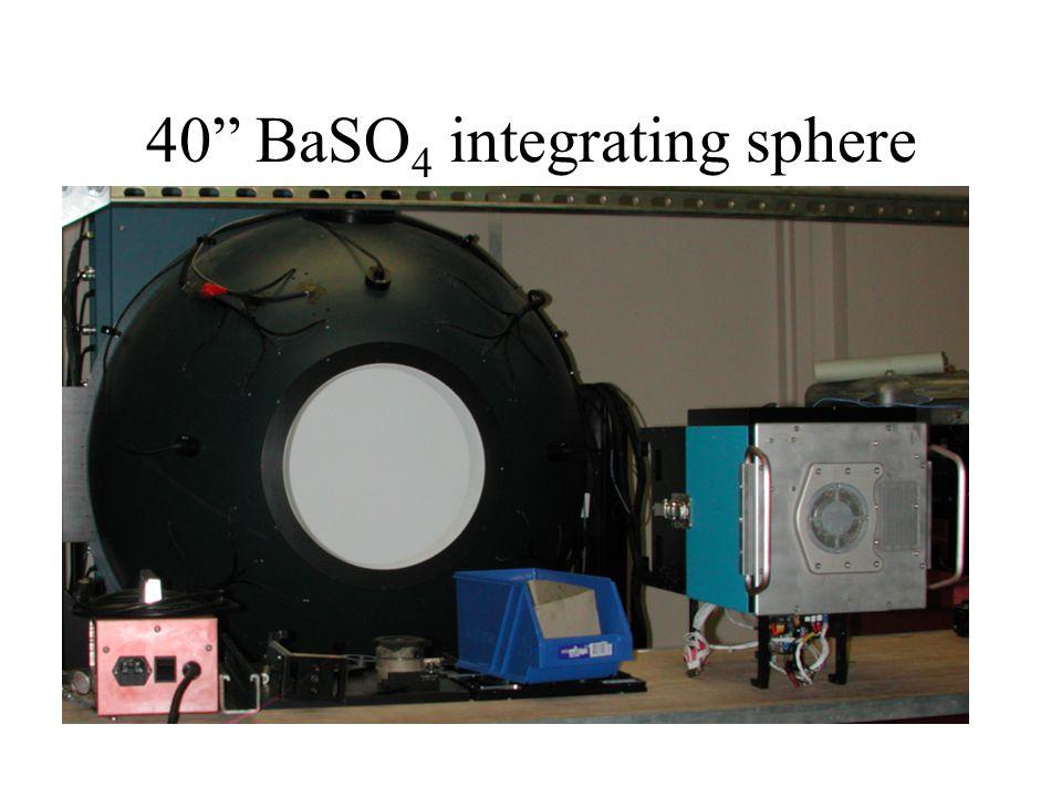 40 BaSO 4 integrating sphere