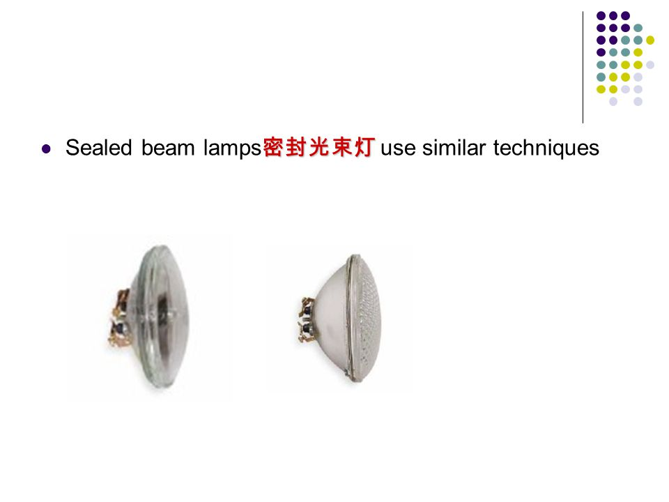 Sealed beam lamps use similar techniques