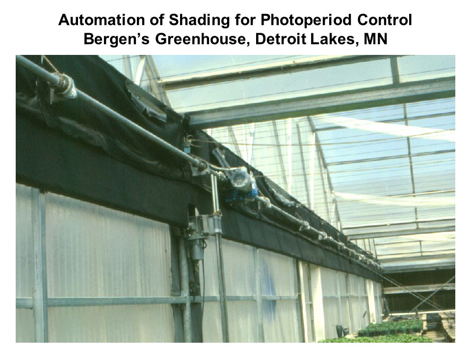 Automation of Shading for Photoperiod Control Bergens Greenhouse, Detroit Lakes, MN