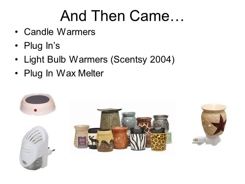 Candle Warmers Plug Ins Light Bulb Warmers (Scentsy 2004) Plug In Wax Melter