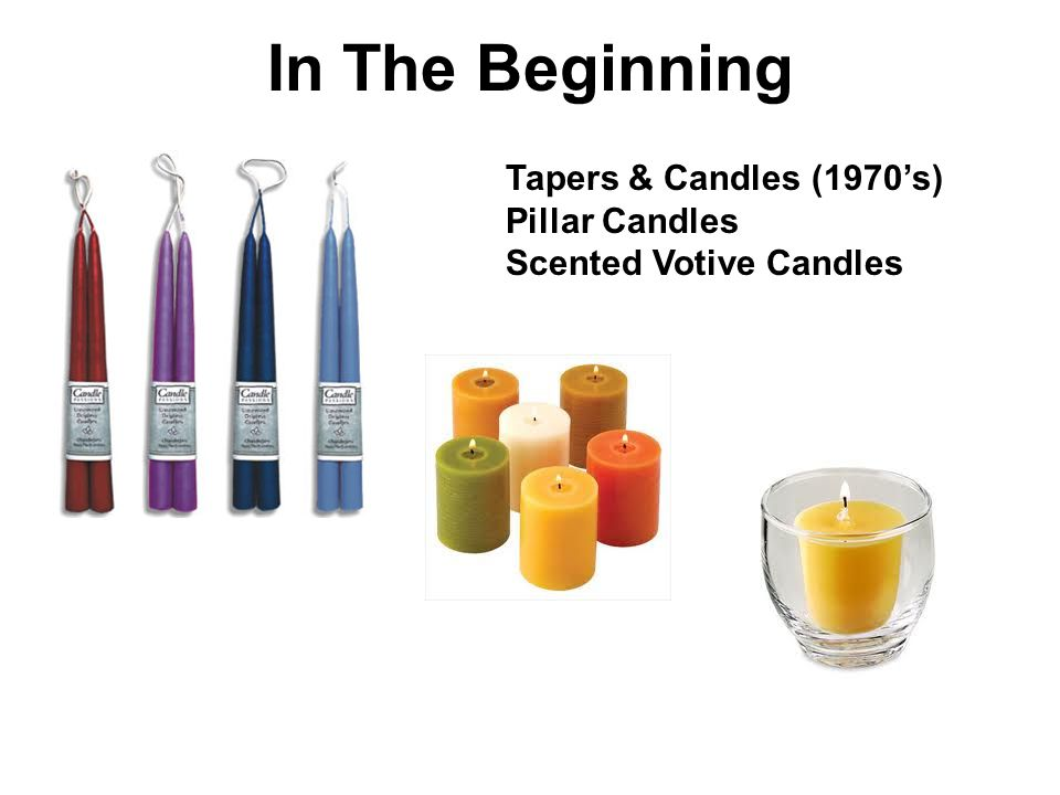 Tapers & Candles (1970s) Pillar Candles Scented Votive Candles In The Beginning