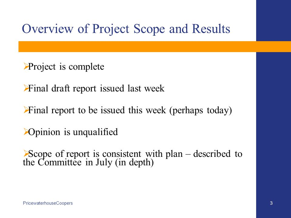 Scope of Project 4