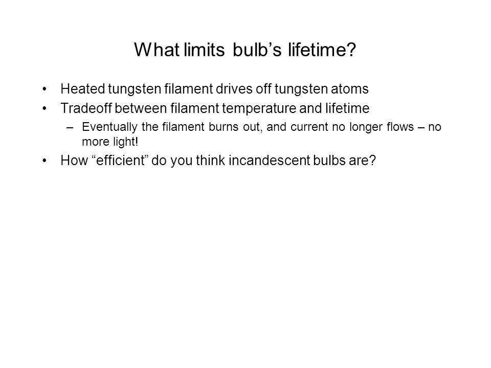 What limits bulbs lifetime.
