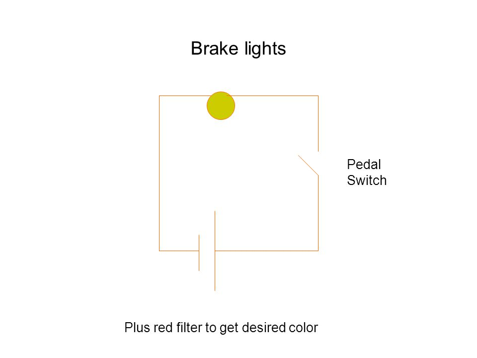 Brake lights Pedal Switch Plus red filter to get desired color