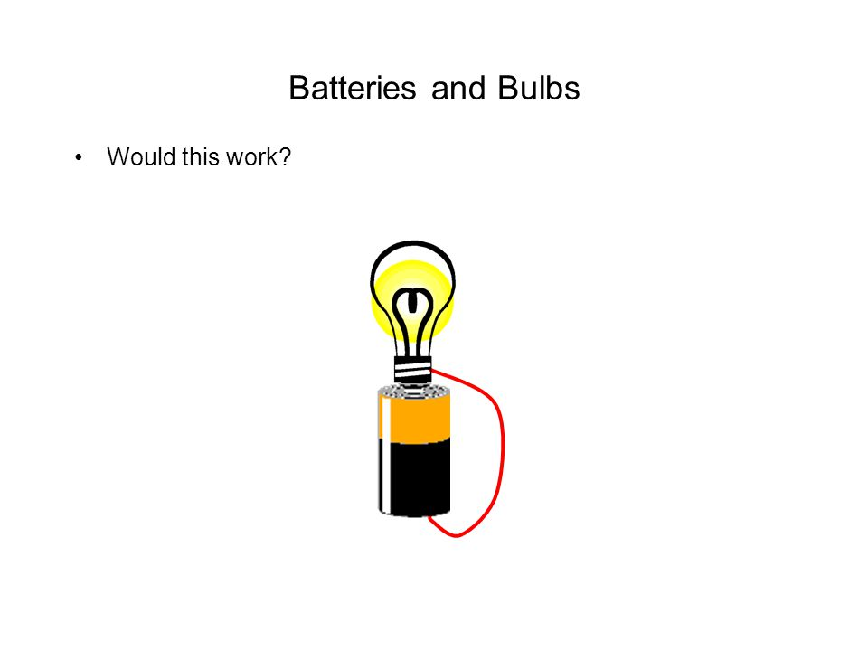 Batteries and Bulbs Would this work?