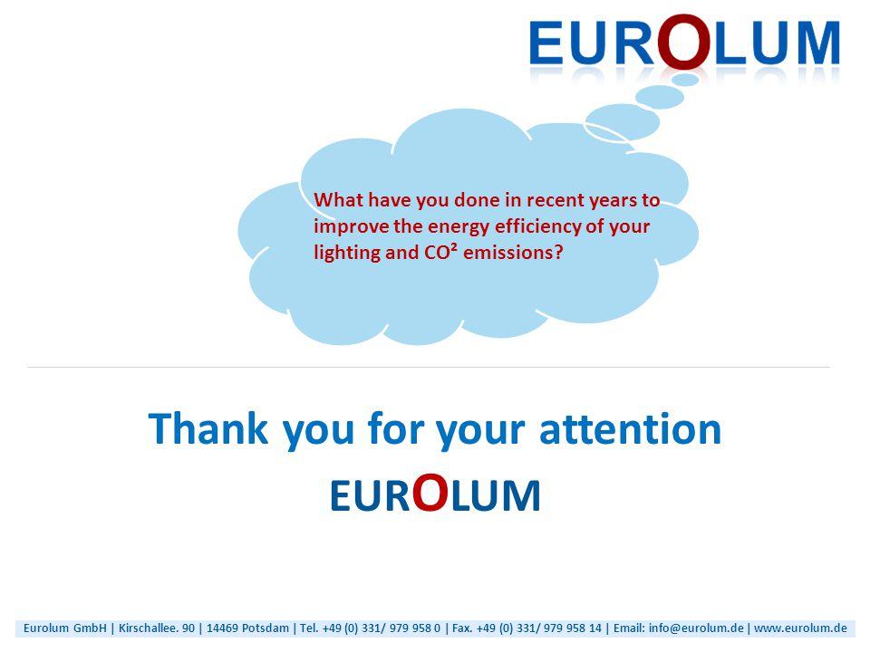 Eurolum GmbH | Kirschallee. 90 | 14469 Potsdam | Tel.