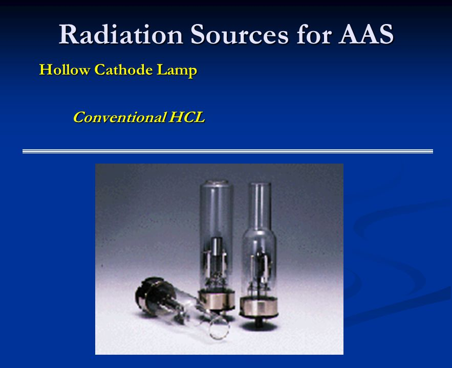 Hollow Cathode Lamp Conventional HCL Radiation Sources for AAS